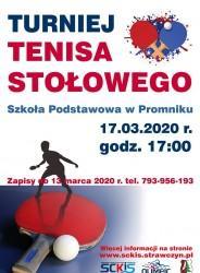 Turniej Tenisa Stołowego 17.03.2020